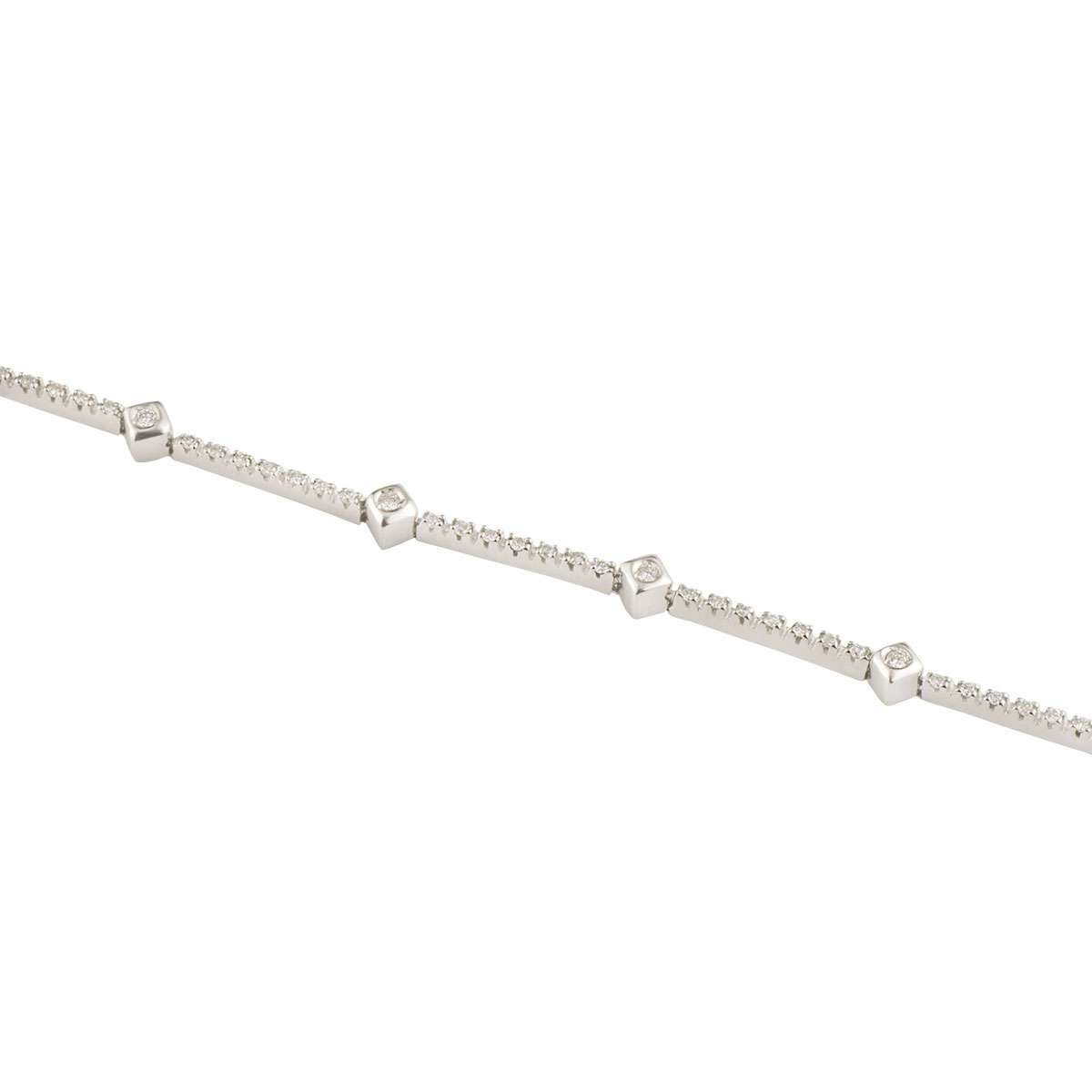 White Gold Diamond Bracelet 0.50ct G/VS